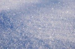 Pluizige sneeuwclose-up Royalty-vrije Stock Fotografie