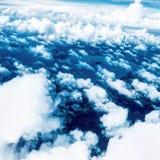 Pluizige wolken stock foto's