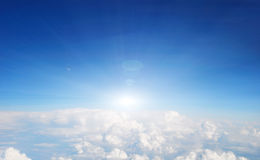 Pluizige wolken Royalty-vrije Stock Fotografie