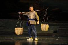 Pluk een opera van mandjiangxi een weeghaak Stock Fotografie
