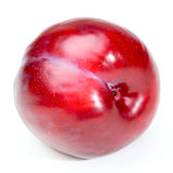 Plum. Isolated on white background Royalty Free Stock Photos