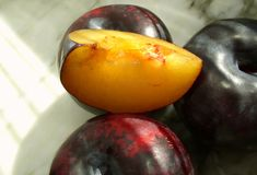 Plum. 'red heart royalty free stock photos