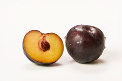Plum. On a white background Stock Photo