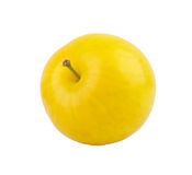 Plum. Yellow plum isolated in white background Royalty Free Stock Image
