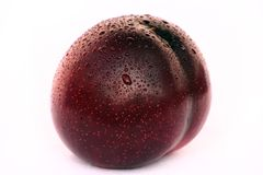 Plum. A isolated plum on white background Royalty Free Stock Photos