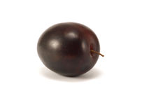 Plum. Ripe plum isolated on a white background Royalty Free Stock Photo