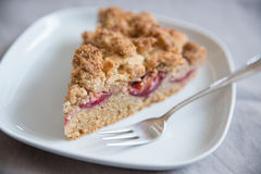 Plum Almond Cake Royalty Free Stock Photo