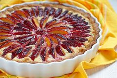 Plum and Almond Tart Royalty Free Stock Image