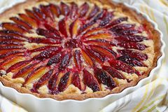 Plum and Almond Tart Royalty Free Stock Photo