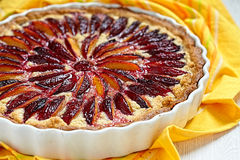 Plum And Almond Tart Stock Image