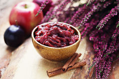 Plum and apple chutney Royalty Free Stock Images