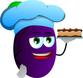 Plum as confectioner Royalty Free Stock Images