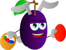 Plum as Easter bunny Royalty Free Stock Image