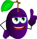 Plum with attitude Royalty Free Stock Image