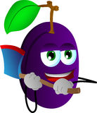 Plum with an axe Stock Photography