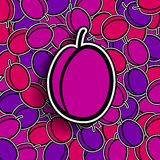Plum background Royalty Free Stock Image