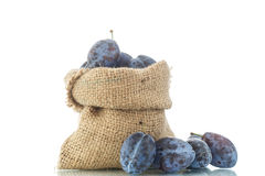 Plum in the bag Royalty Free Stock Images