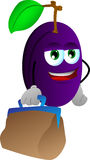 Plum with bag Stock Image
