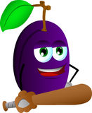 Plum baseball batter Stock Image