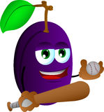 Plum Baseball player Stock Photography