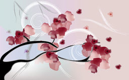 Plum blossom. Painted in old japanese style Royalty Free Stock Photo