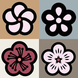 Plum blossom flower pattern symbol Royalty Free Stock Photos