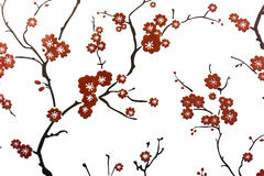 Plum blossom wall decoration Stock Photography