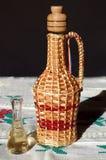 Plum brandy bottle Royalty Free Stock Photography