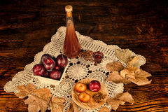 Plum brandy Royalty Free Stock Images