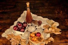 Plum brandy Royalty Free Stock Images