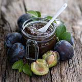 Plum butter Stock Photos