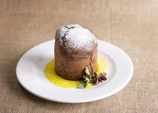 Plum-cake del budino di Vienna Immagini Stock