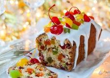 Plum-cake di Natale fotografia stock