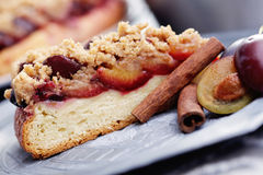 Plum cake Stock Photo