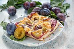 Plum cake Royalty Free Stock Image