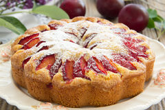 Plum cake. Stock Photos