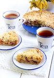 Plum cake with streusel topping Royalty Free Stock Image