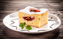 Plum cake stock image