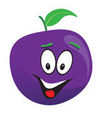 Plum cartoon face Royalty Free Stock Image