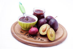 Plum chutney Royalty Free Stock Images