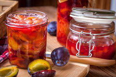 Plum compote. Royalty Free Stock Photography