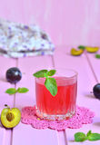 Plum compote. Royalty Free Stock Photo