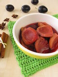 Plum compote with spices Stock Image