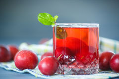 Plum compote Royalty Free Stock Image