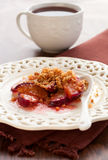 Plum crumble Stock Image