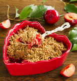 Plum crumble Royalty Free Stock Image