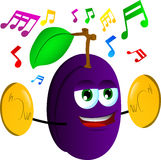 Plum with cymbals Royalty Free Stock Image
