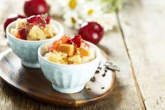 Plum dessert Stock Photo
