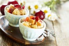 Plum dessert Stock Images