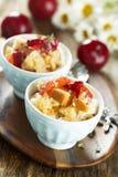 Plum dessert Royalty Free Stock Image